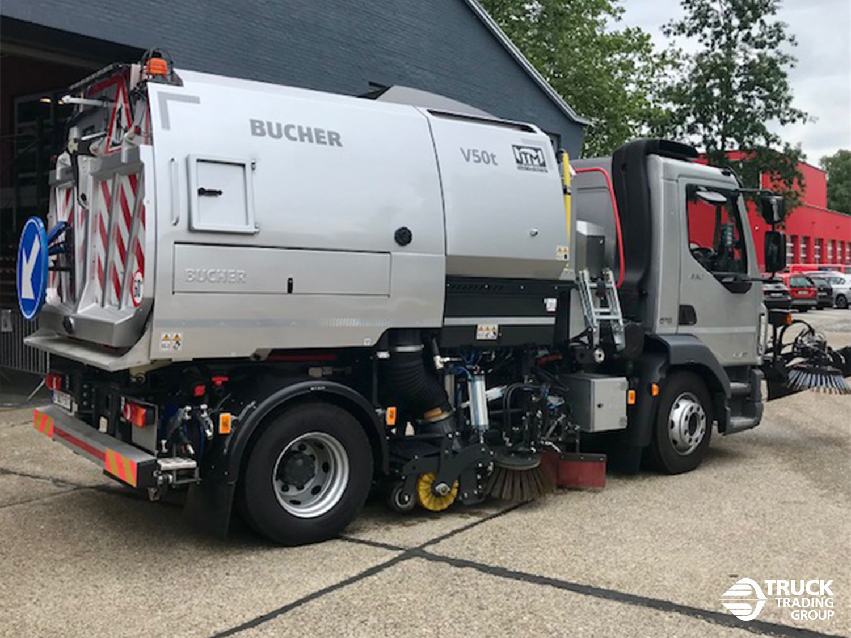 DAF LF 230 FA 16 ton met Johnston V50t opbouw en Beam veegsysteem. foto 0
